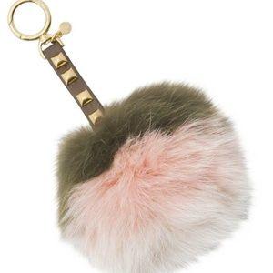 Michael Kors Large Fur Keychain Bag Charm